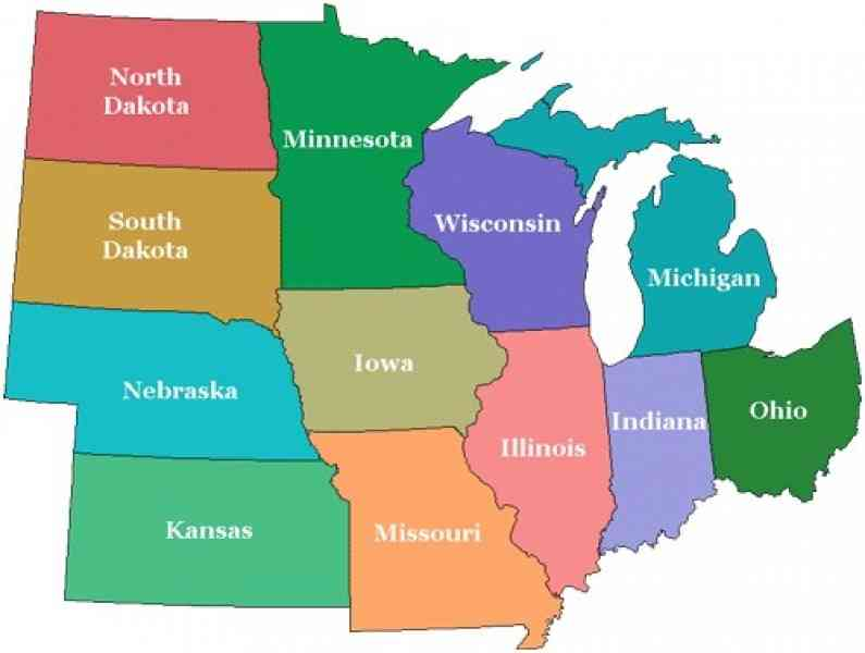 Midwest States Map My Blog Maps Usa Map Midwest Blank Map Us - Map midwest us