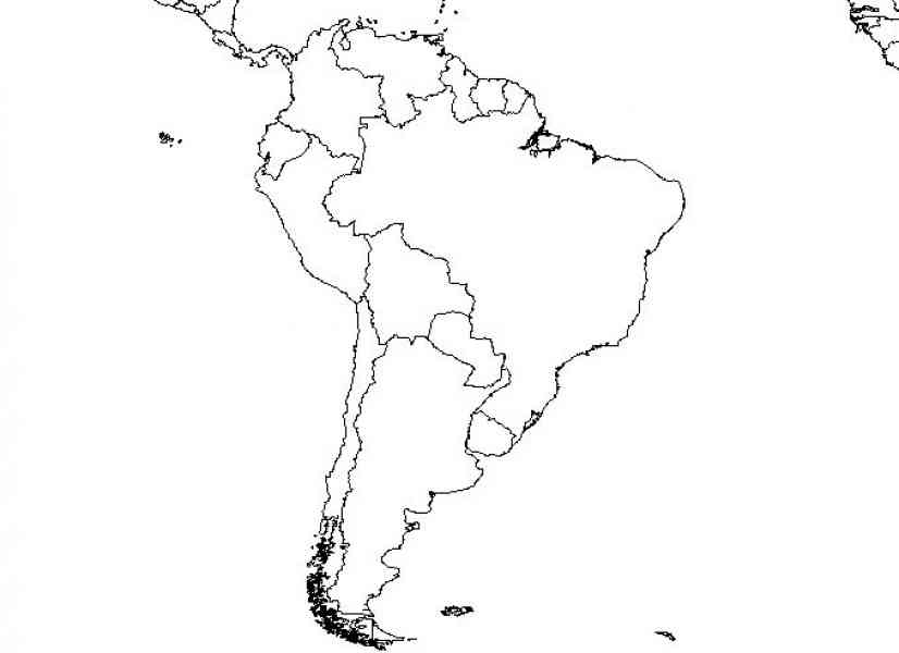 blank north and south america map