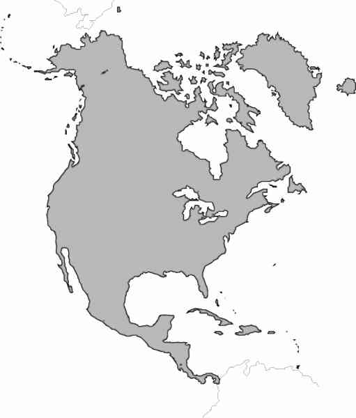 blank map of north america 173 Blank Map Of North America