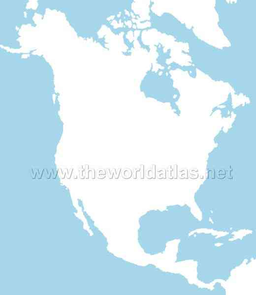 blank map of north america 102 Blank Map Of North America