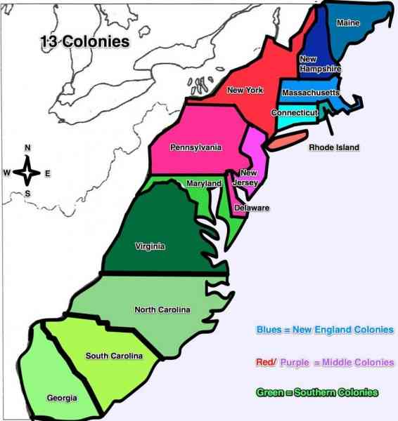 Blank Map Of The Colonies Map Holiday Travel HolidayMapQcom - 13 colonies map new york city
