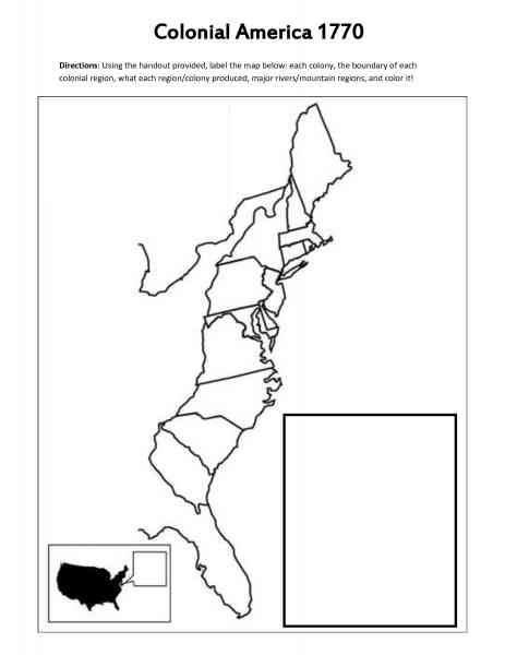 Blank Map Of The 13 Colonies  Map  Holiday  Travel HolidayMapQcom