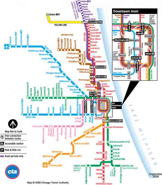 blue line cta map 9 Blue Line Cta Map