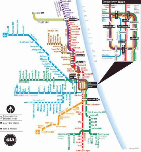 blue line cta map 45 Blue Line Cta Map