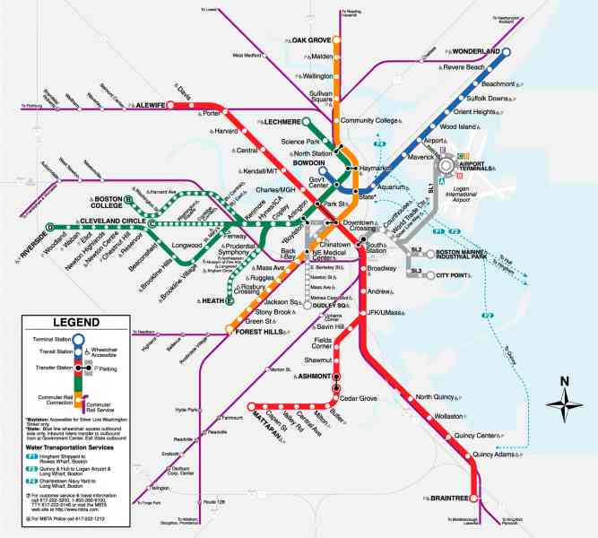 boston t map 55 Boston T Map