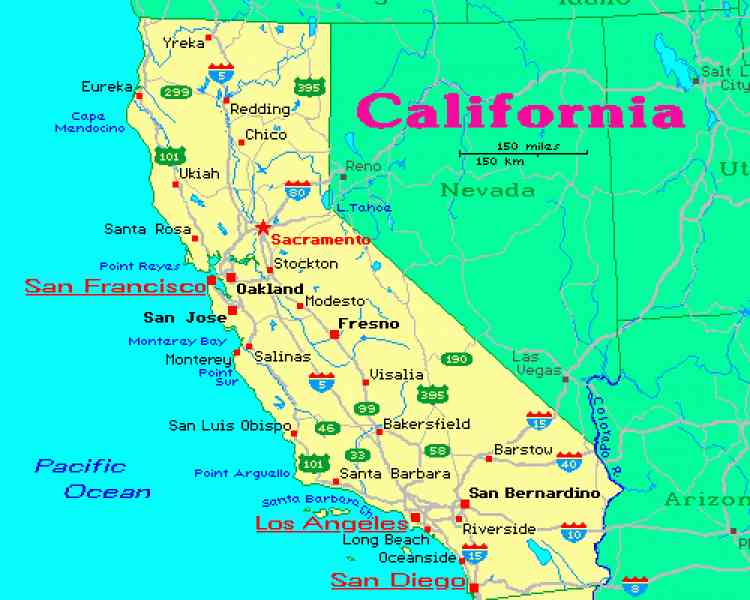 Ca City Map Map Holiday Travel HolidayMapQcom - Map of california cities