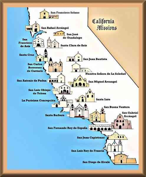 california missions map 24 California Missions Map