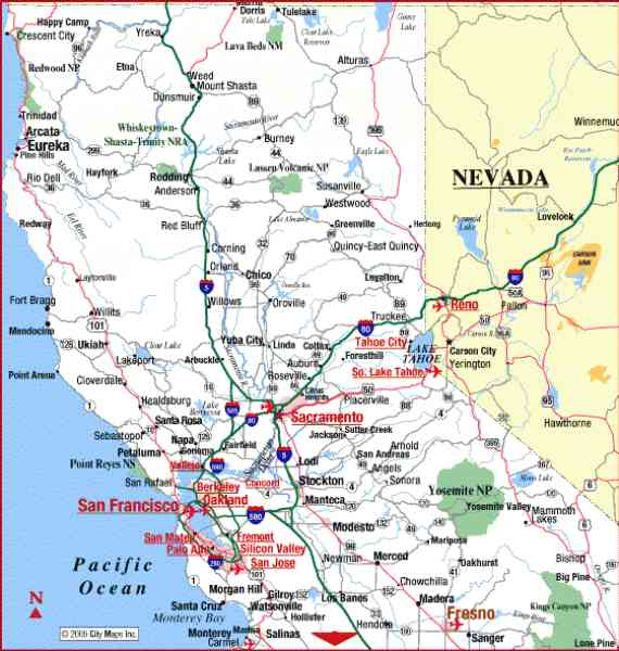 California Road Map Map Holiday Travel HolidayMapQcom - Ca road map