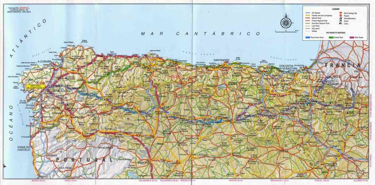 map of paradores in spain with Camino De Santiago Map on 3896950150 together with Paradoresplans Three Day Getaway Cardona furthermore Oviedo Spain Map together with 256 furthermore Car Hire In Spain Hints And Tips On Car Hire Valencia Airport Motorway Autopista Autovia.