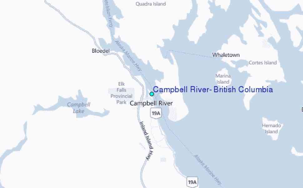 campbell river map 43 Campbell River Map