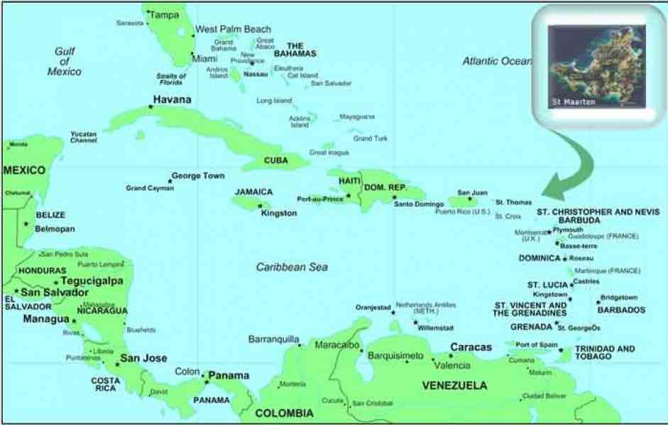 carribean map 34 Carribean Map