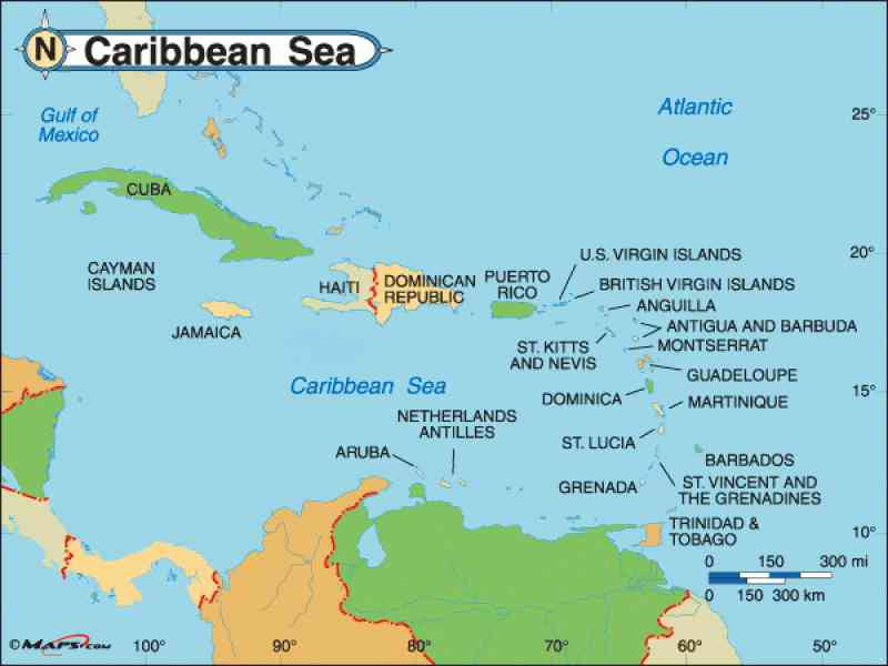 carribean map 90 Carribean Map