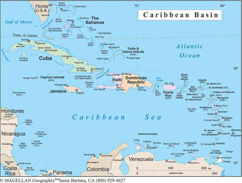 carribean map 18 Carribean Map