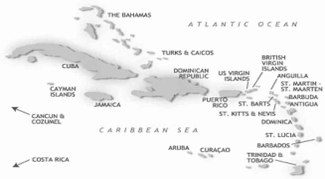carribean map 122 Carribean Map