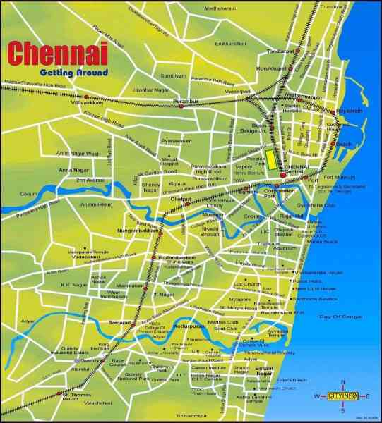 chennai road map with distance 10 Chennai Road Map With Distance