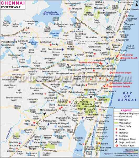 chennai road map with distance 45 Chennai Road Map With Distance