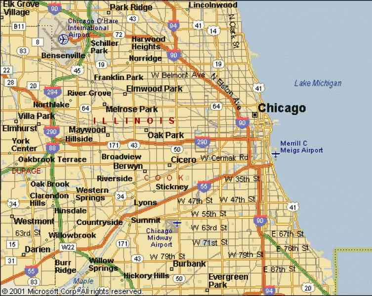 chicago city map 7 Chicago City Map