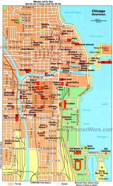 chicago city map 151 Chicago City Map