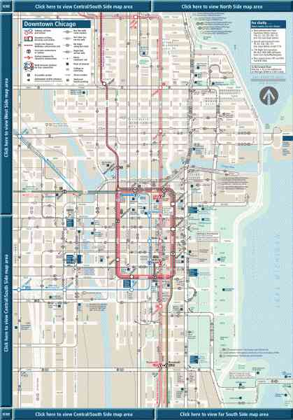 Chicago Cta Map 150 Chicago Cta Map
