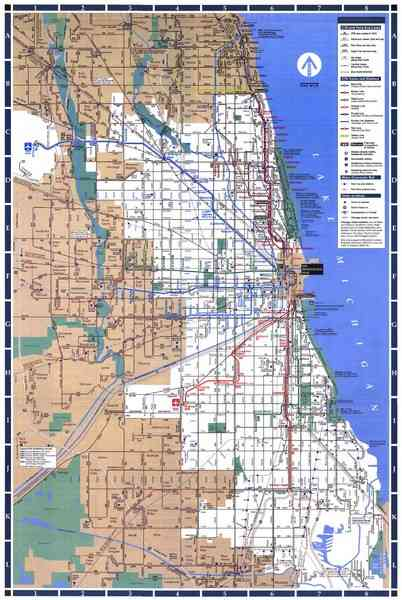 Chicago Cta Map 179 Chicago Cta Map