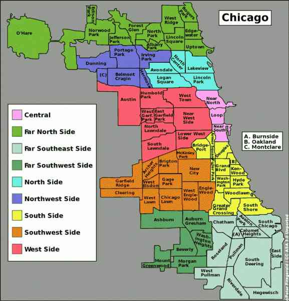 Chicago Gang Map  Map  Holiday  Travel HolidayMapQcom