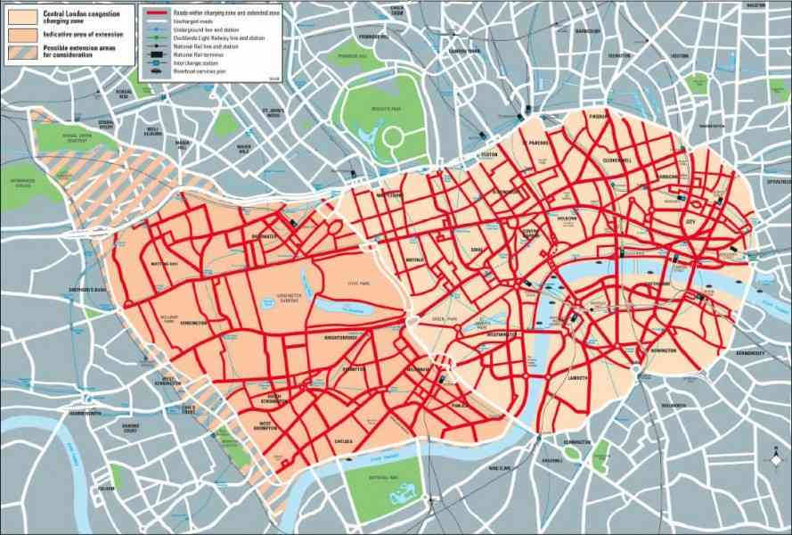 congestion charge map london 6 Congestion Charge Map London