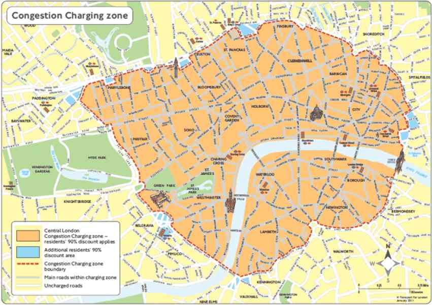 congestion charge map london 226 Congestion Charge Map London