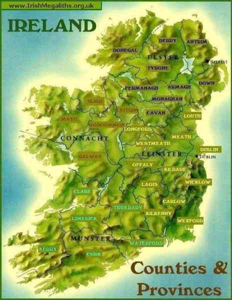 county of ireland map 3 County Of Ireland Map