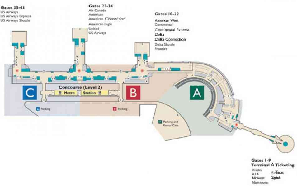 Dca Airport Map HolidayMapQcom