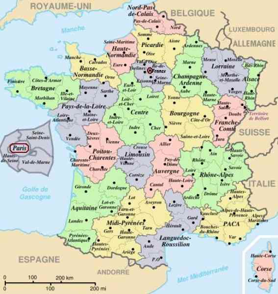 departments france map 133 Departments France Map