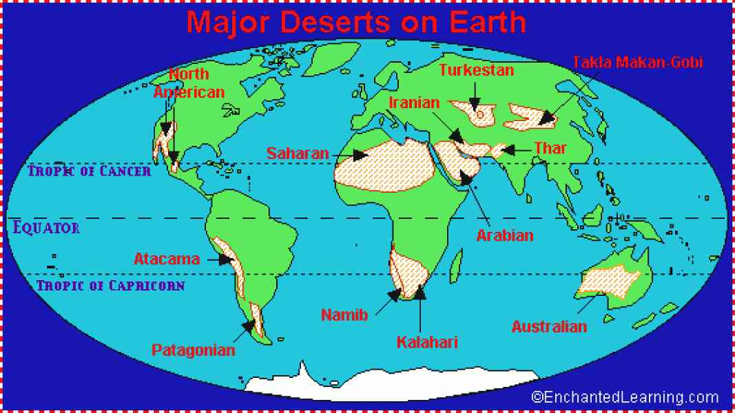 Desert Map Of World 22 Desert Map Of World