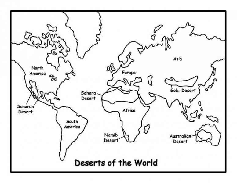 Desert Map Of World 154 Desert Map Of World