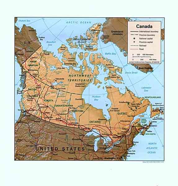 Detailed Map Canada 10 Detailed Map Canada