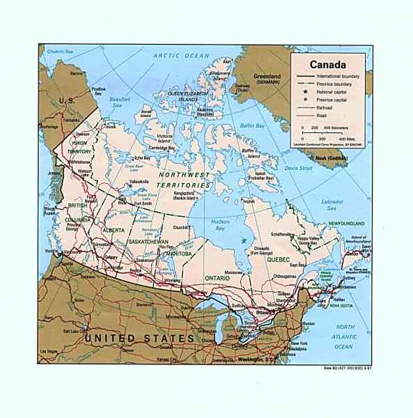 Detailed Map Canada 66 Detailed Map Canada
