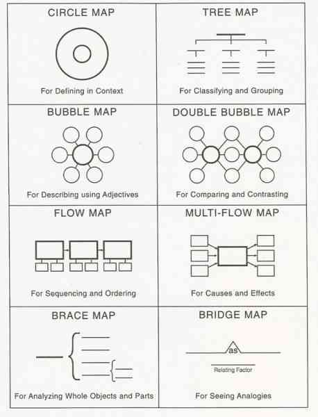 Double bubble map for Brace map template