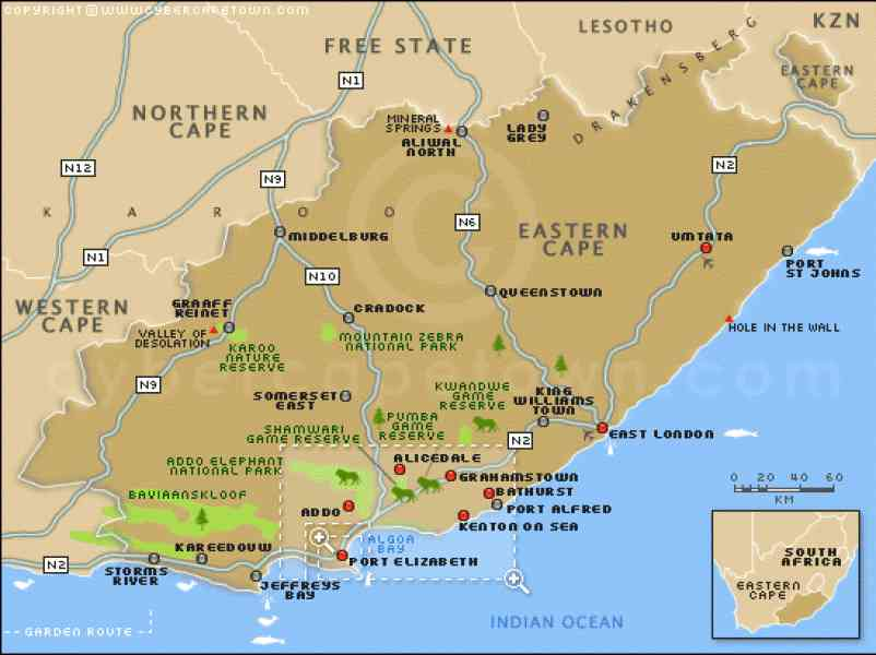 eastern cape map 7 Eastern Cape Map