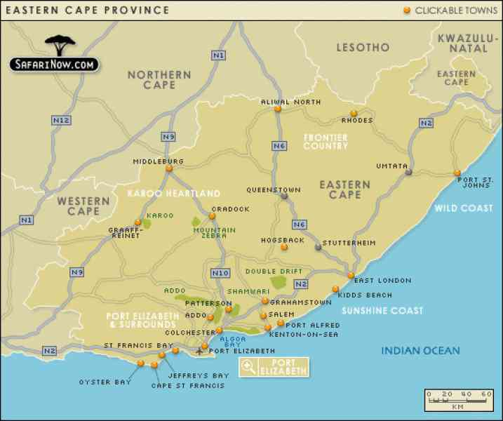 eastern cape map 28 Eastern Cape Map