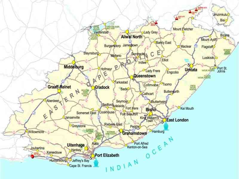 eastern cape map 181 Eastern Cape Map