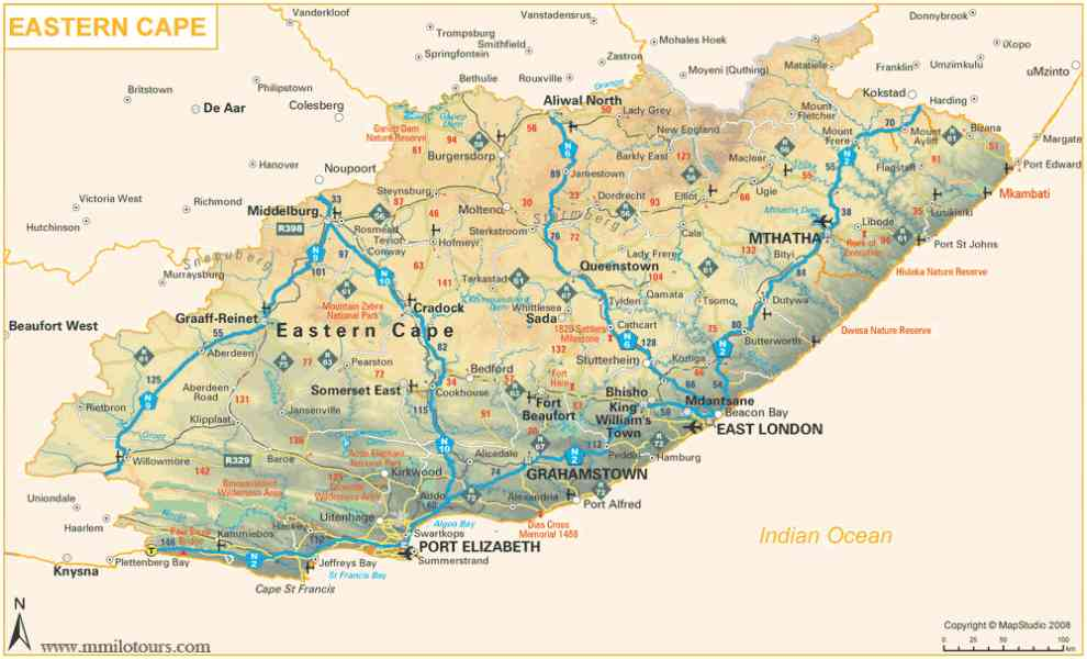 eastern cape map 577 Eastern Cape Map
