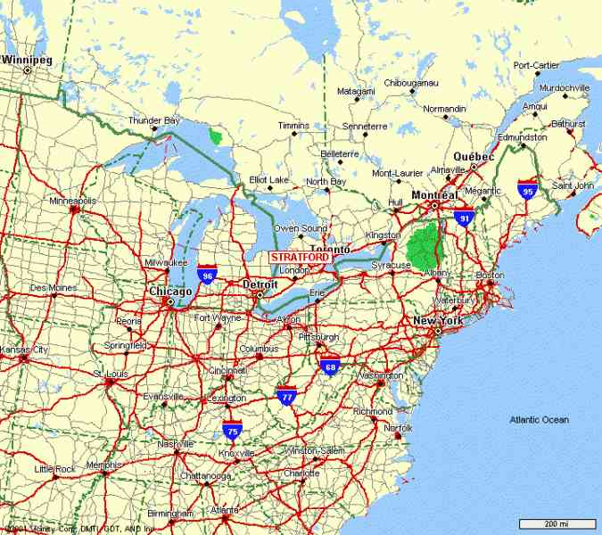 Road Map Of Eastern Us States Driving Map Of United States Eastern States