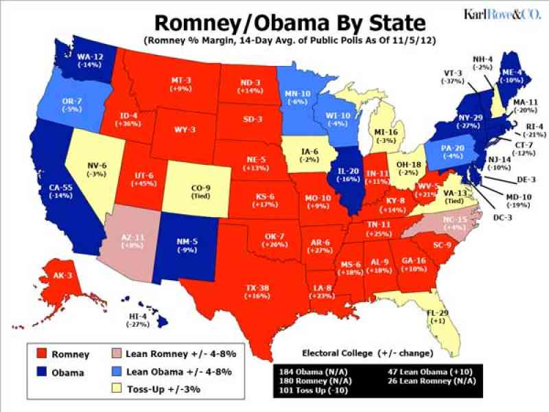 electoral votes by state map 496 Electoral Votes By State Map