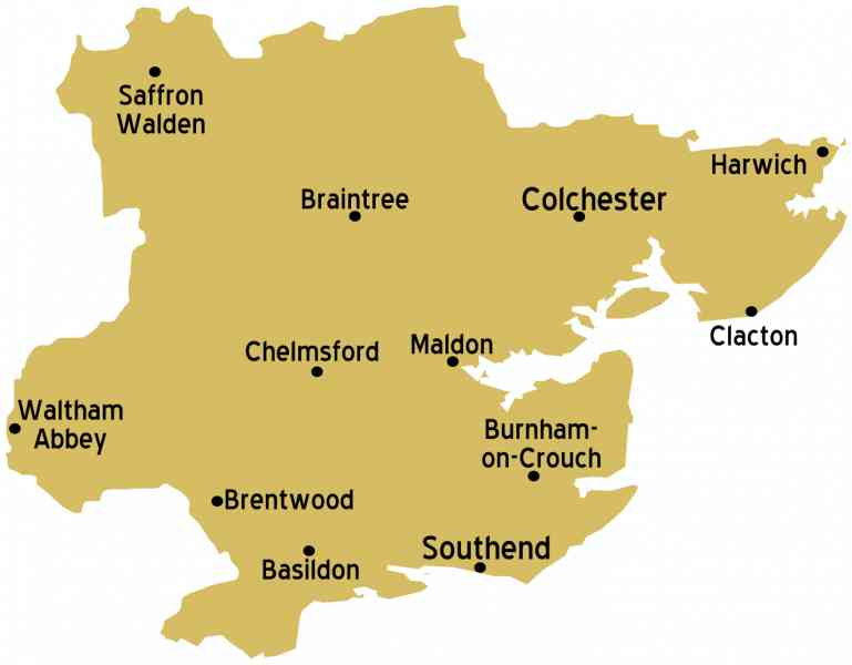 essex map of england 178 Essex Map Of England
