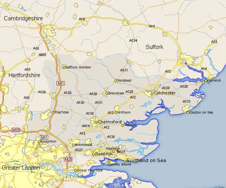 essex map of england 473 Essex Map Of England