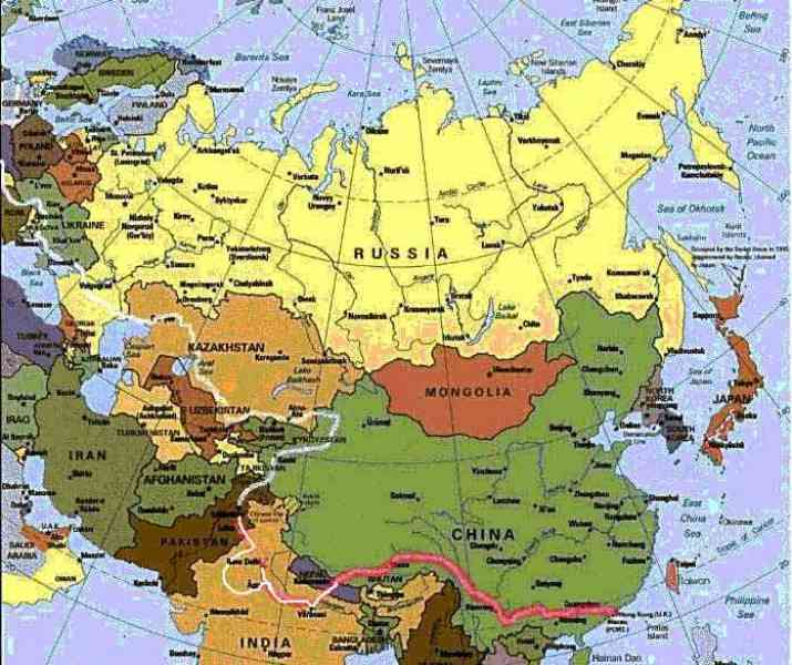 eurasia map 119 Eurasia Map