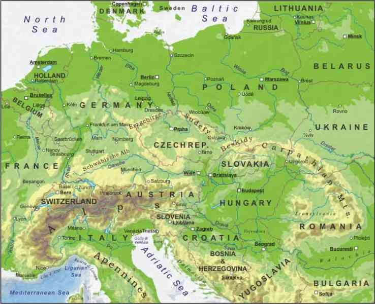 europe germany map 201 Europe Germany Map