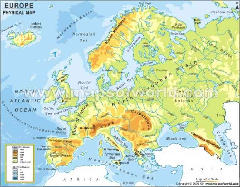 Europe Political Map HolidayMapQcom - Countries in europe and their capitals