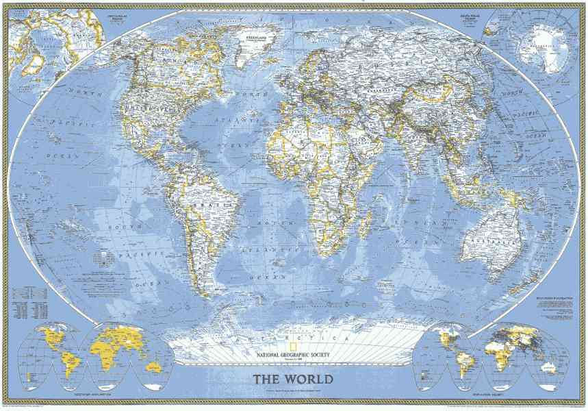 Flat Map Of The Globe Map Holiday Travel