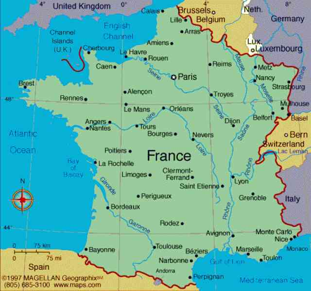 france map of country 7 France Map Of Country
