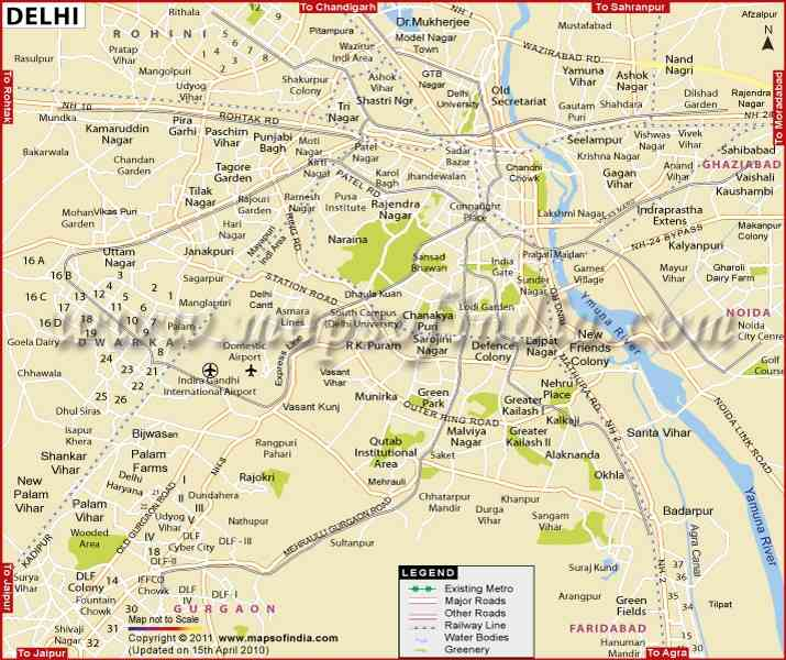 free map of delhi 8 Free Map Of Delhi