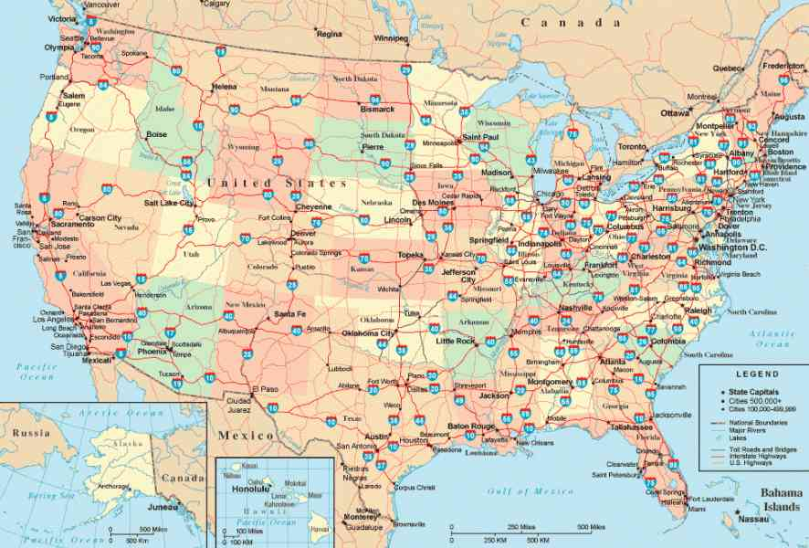 Free United States Map Map Holiday Travel HolidayMapQcom - Free interactive us map